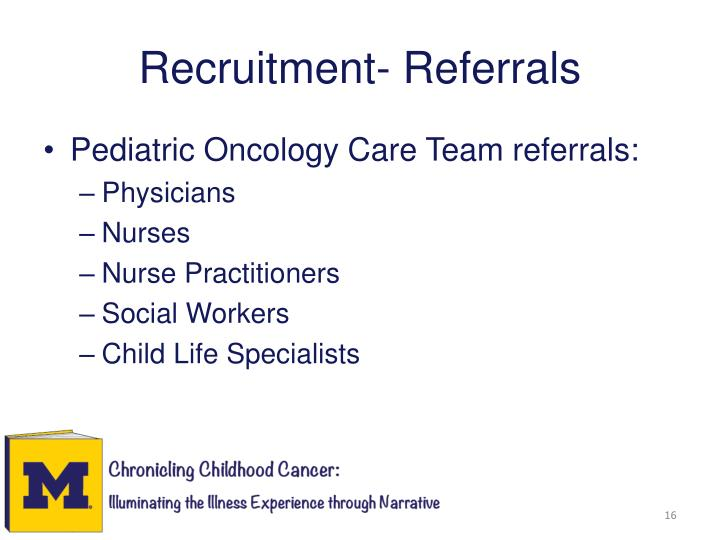 Recruitment- Referrals