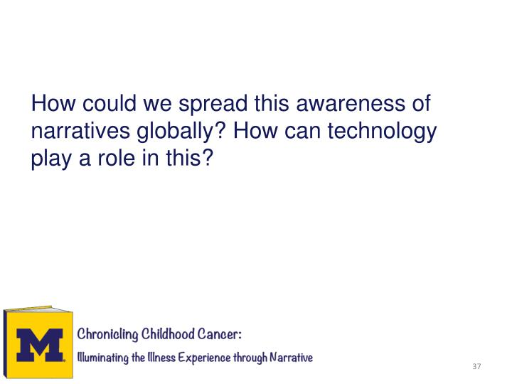 How could we spread this awareness of narratives globally? How can technology play a role in this?