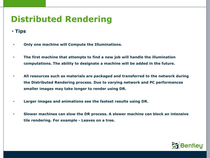 Distributed Rendering