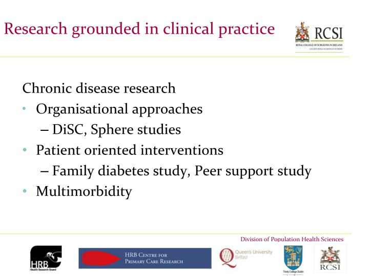 Research grounded in clinical practice