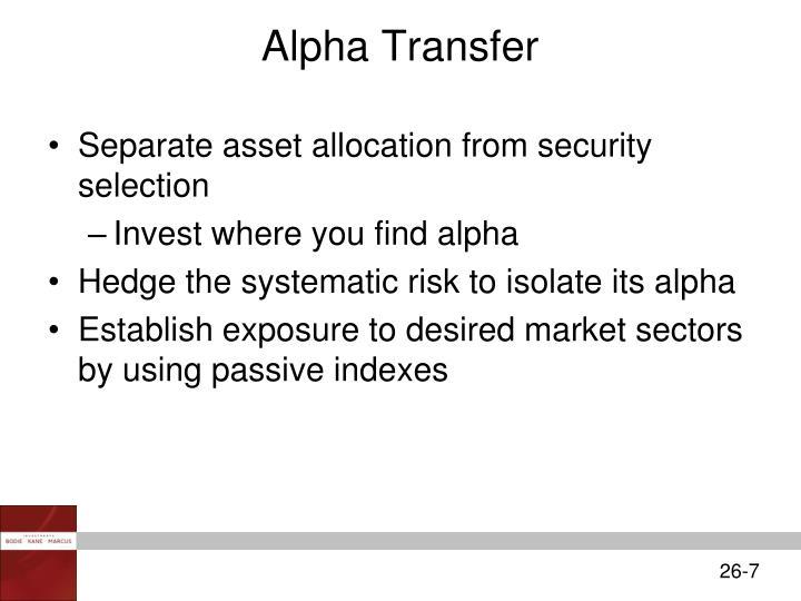 Alpha Transfer