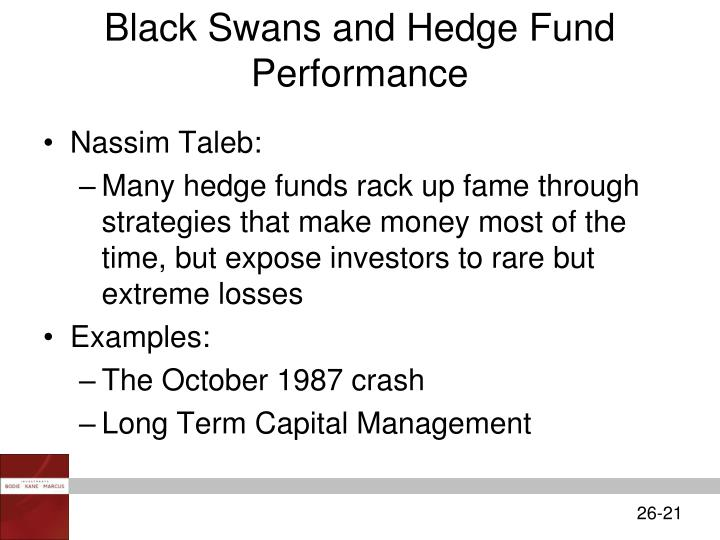 Black Swans and Hedge Fund Performance