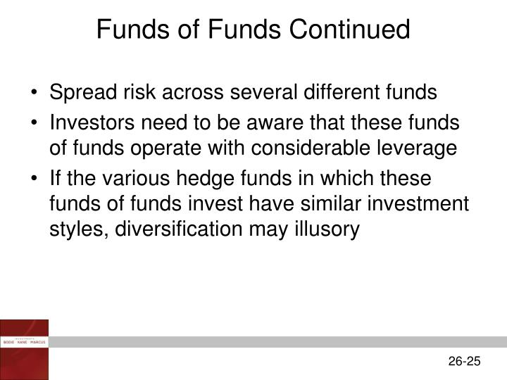 Funds of Funds Continued