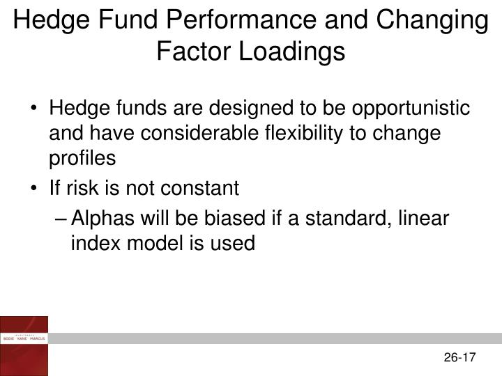 Hedge Fund Performance and Changing Factor Loadings
