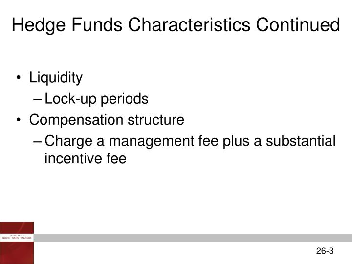 Hedge Funds Characteristics Continued