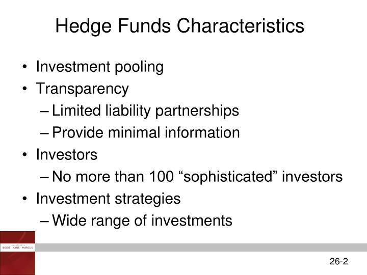 Hedge Funds Characteristics