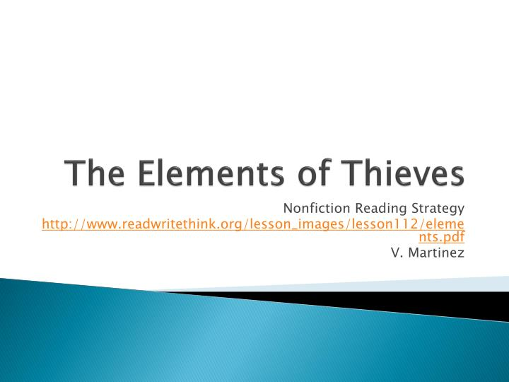 The elements of thieves