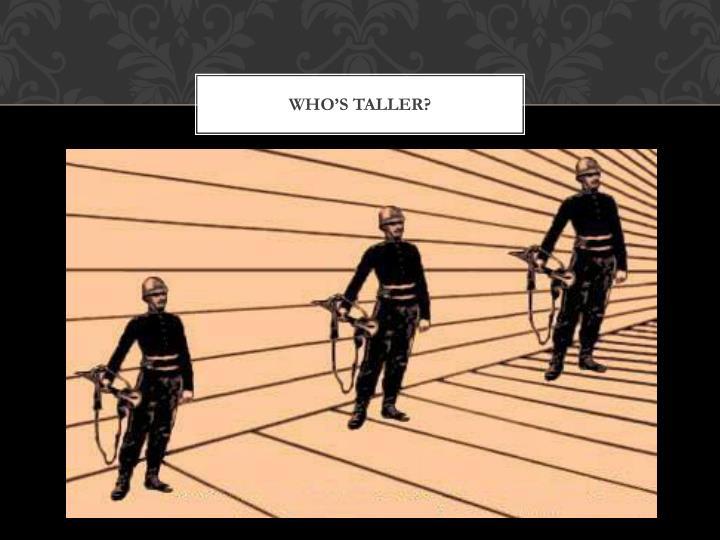 who's taller?