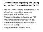 circumstances regarding the giving of the ten commandments ex 19