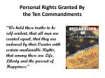 personal rights granted by the ten commandments1