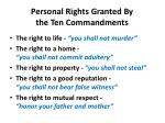 personal rights granted by the ten commandments3