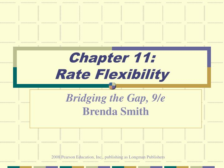 chapter 11 rate flexibility