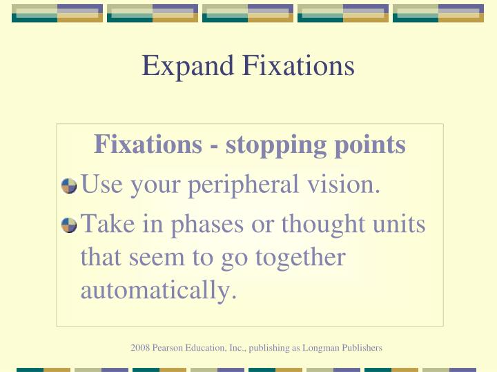 Expand Fixations