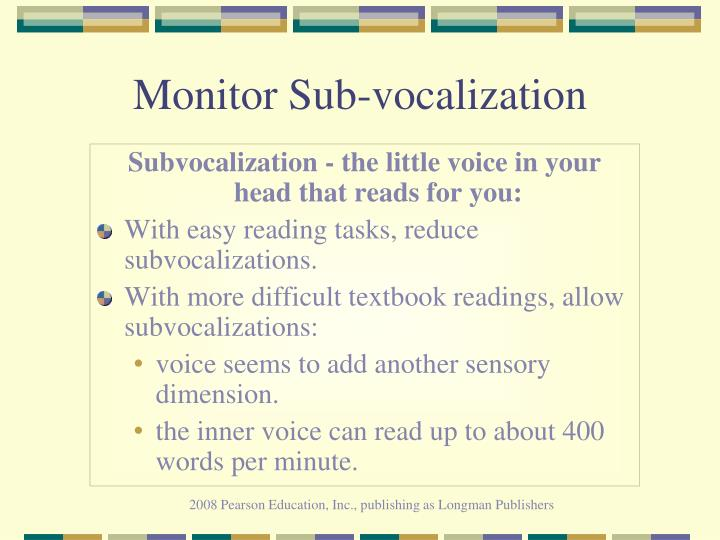 Monitor Sub-vocalization