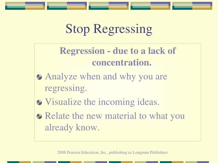 Stop Regressing