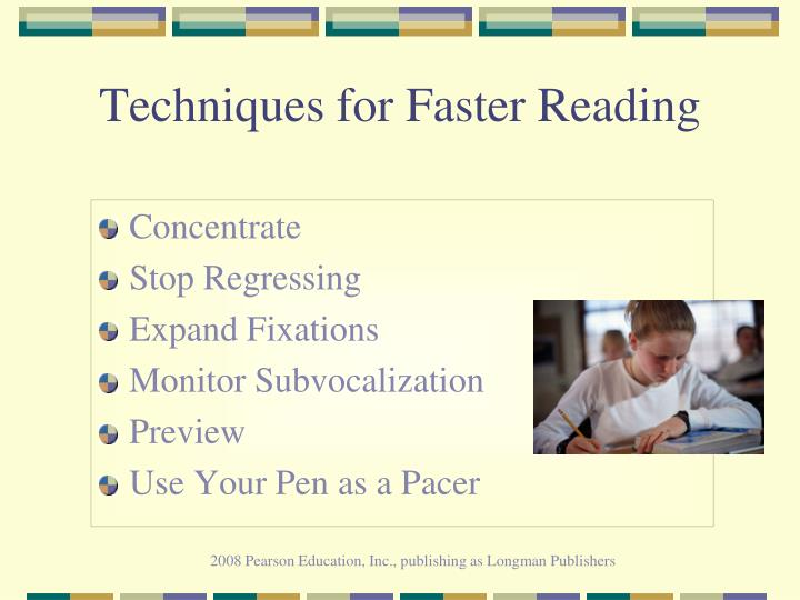 Techniques for Faster Reading