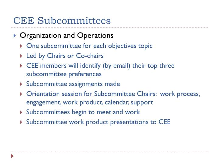 CEE Subcommittees