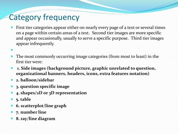 Category frequency