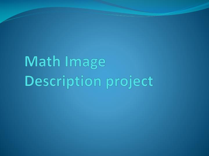 Math image description project