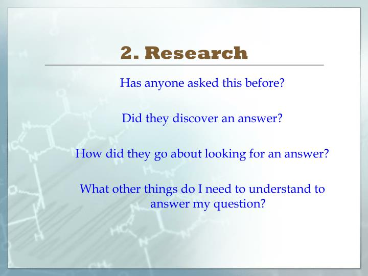 2. Research