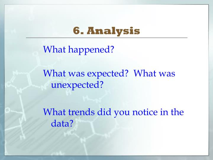 6. Analysis