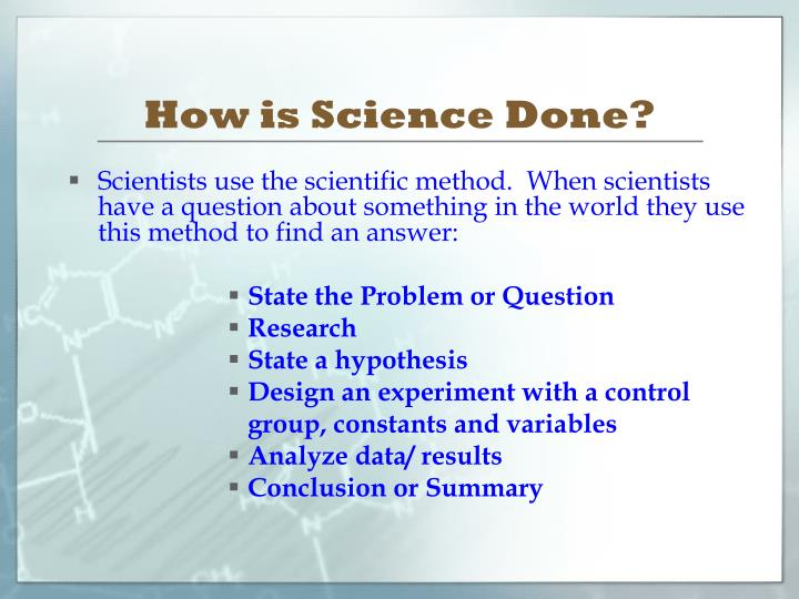 How is Science Done?