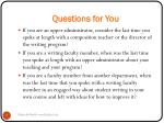 questions for you1