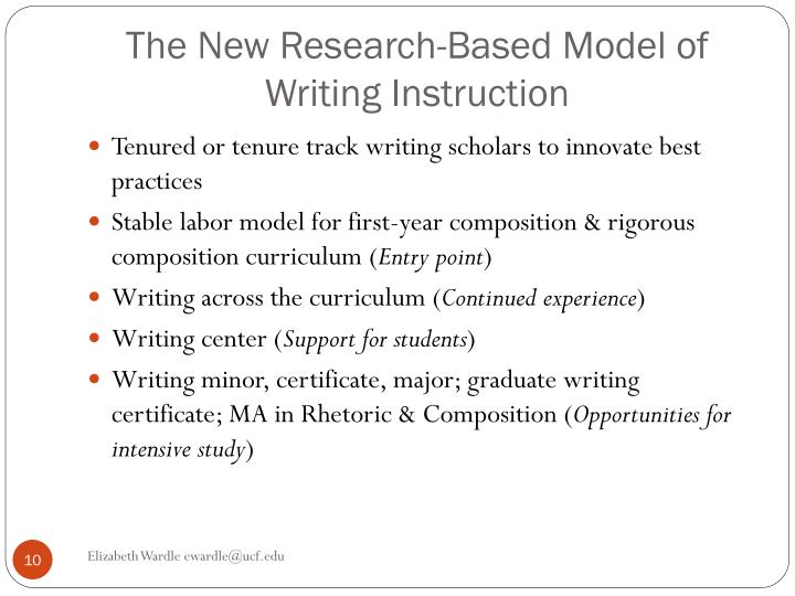 The New Research-Based Model of