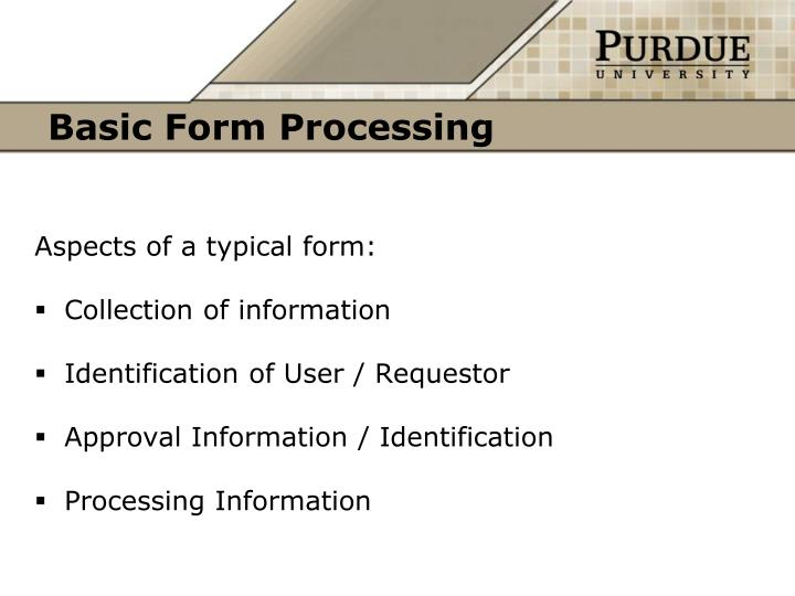 Basic Form Processing