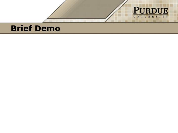 Brief Demo