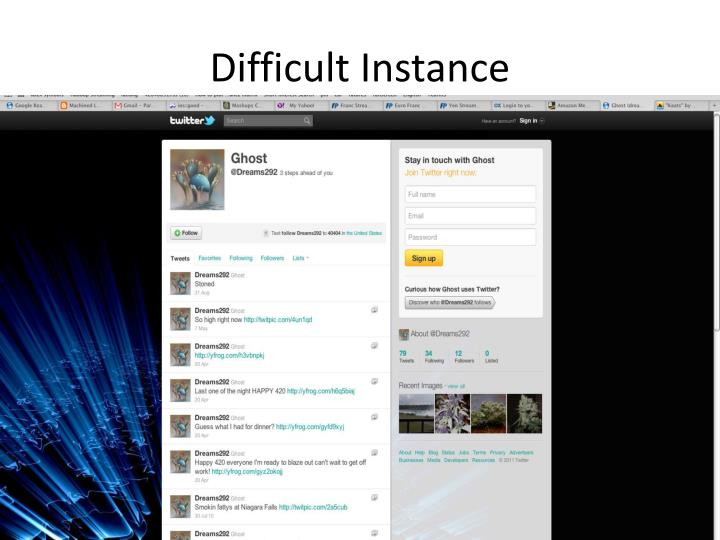 Difficult Instance