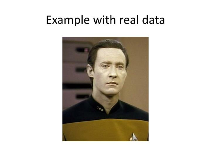 Example with real data