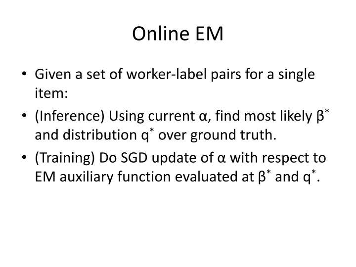 Online EM
