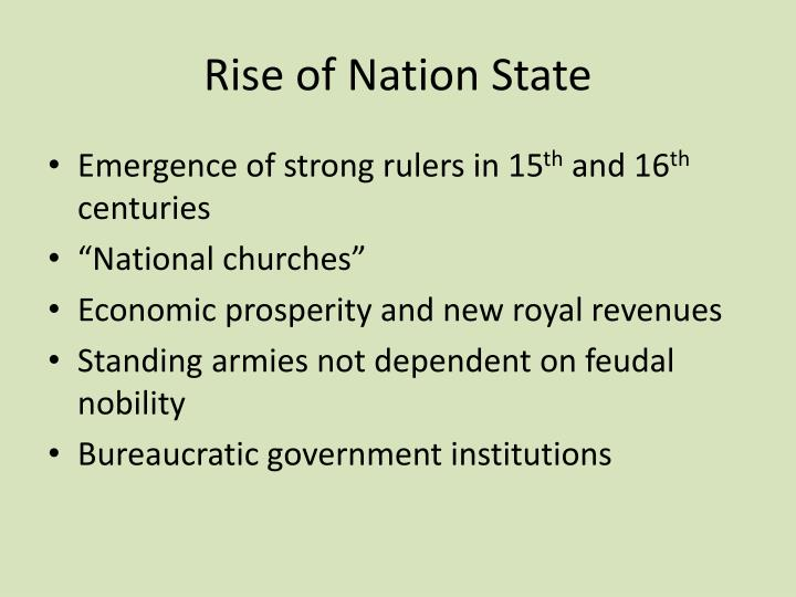 Rise of Nation State