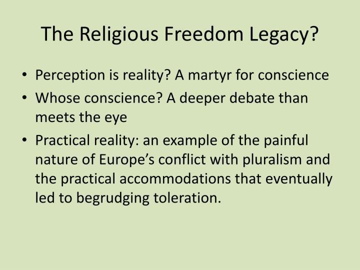 The Religious Freedom Legacy?