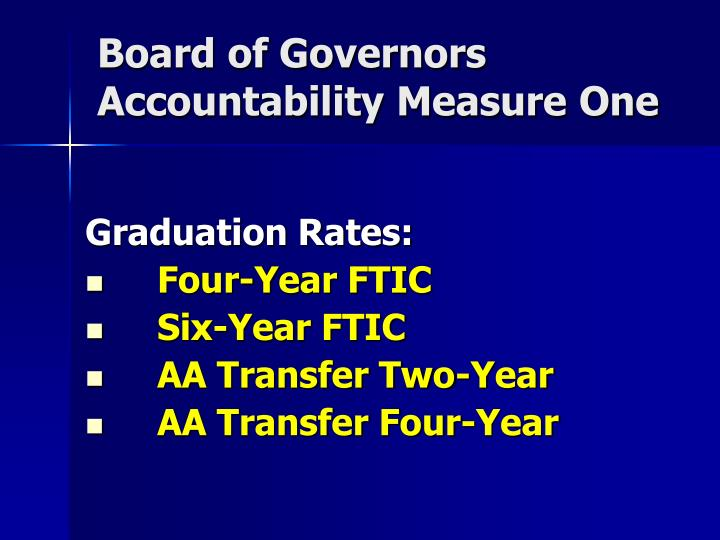Board of governors accountability measure one