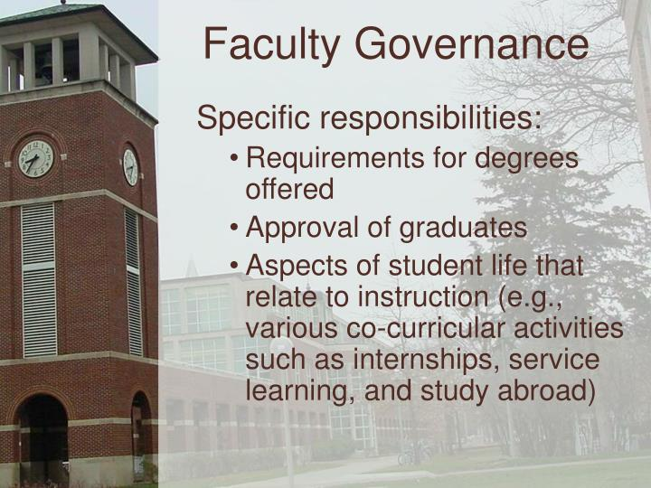 Faculty Governance