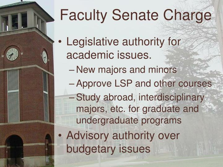Faculty Senate Charge