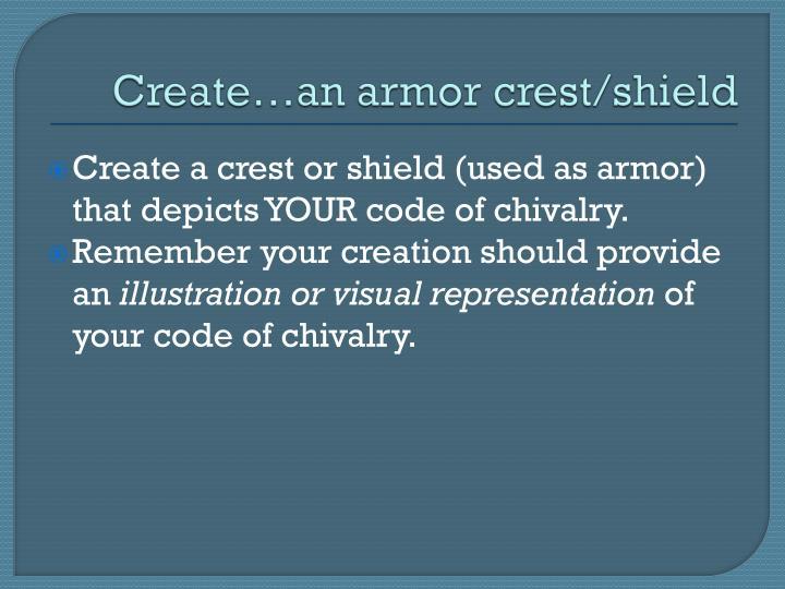 Create…an armor crest/shield