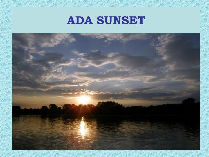 ADA SUNSET