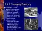 2 4 a changing economy