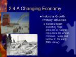 2 4 a changing economy1