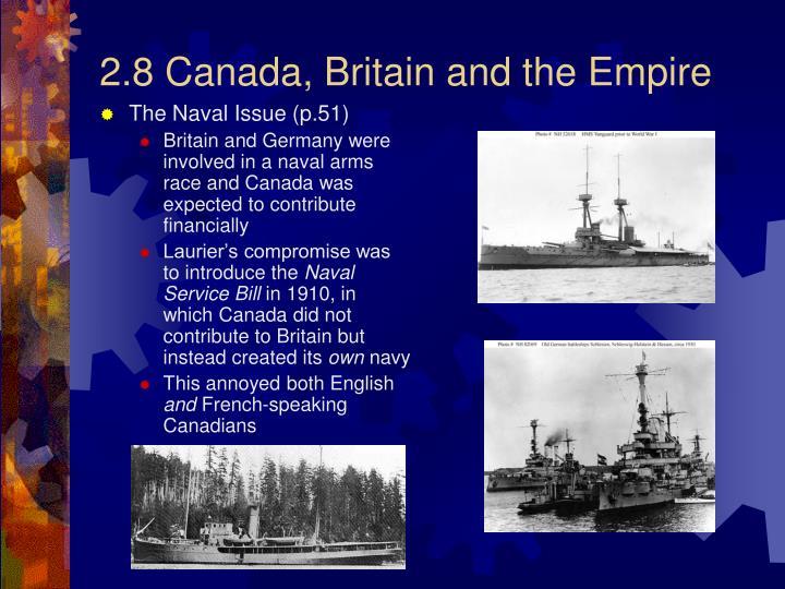 2.8 Canada, Britain and the Empire