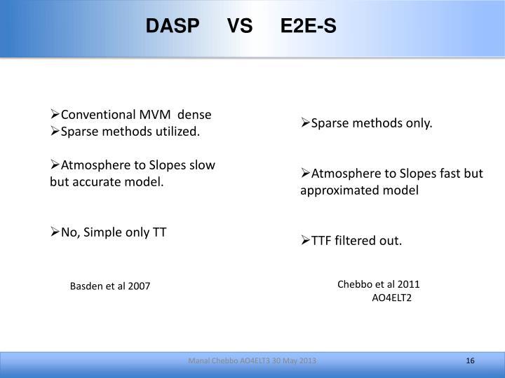 DASP     VS     E2E-S