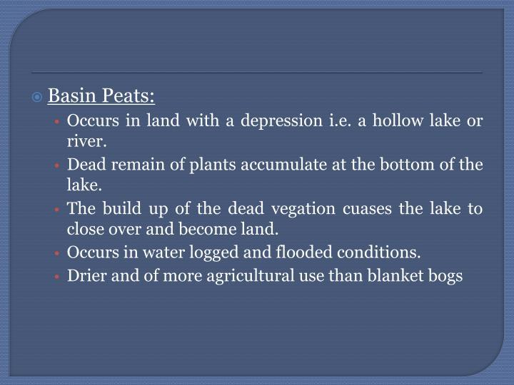 Basin Peats: