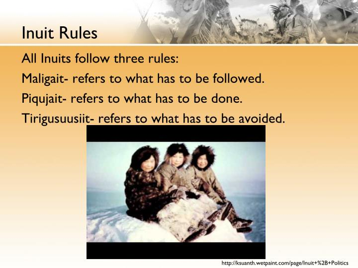 Inuit Rules