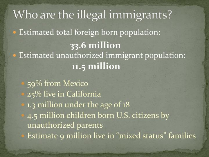 Who are the illegal immigrants?