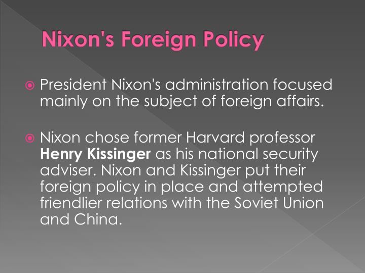 Nixon's Foreign