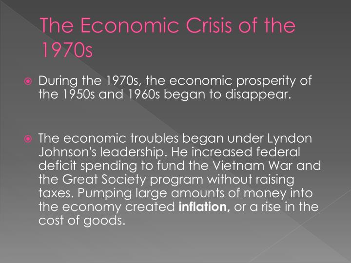 The Economic Crisis of the 1970s
