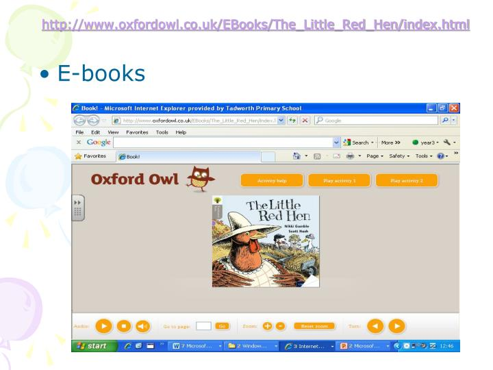 http://www.oxfordowl.co.uk/EBooks/The_Little_Red_Hen/index.html